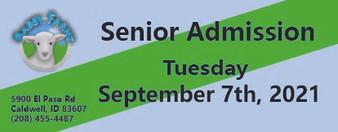 Babby Farms regular senior admission 9/7/2021