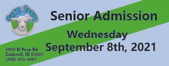 Babby Farms regular senior admission 9/8/2021