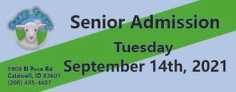 Babby Farms regular senior admission 9/14/2021