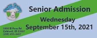 Babby Farms regular senior admission 9/15/2021