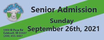 Babby Farms regular senior admission 9/26/2021