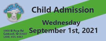 Babby Farms regular child admission 9/1/2021