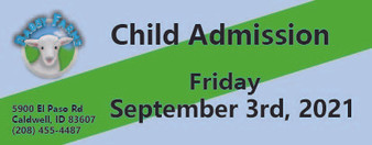 Babby Farms regular child admission 9/3/2021