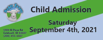 Babby Farms regular child admission 9/4/2021