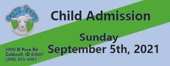 Babby Farms regular child admission 9/5/2021