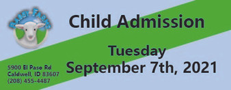 Babby Farms regular child admission 9/7/2021