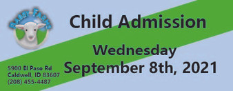 Babby Farms regular child admission 9/8/2021