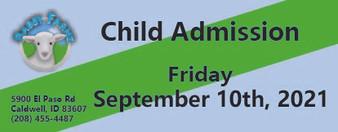 Babby Farms regular child admission 9/10/2021