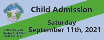 Babby Farms regular child admission 9/11/2021
