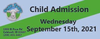 Babby Farms regular child admission 9/15/2021