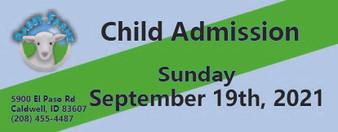 Babby Farms regular child admission 9/19/2021