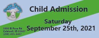 Babby Farms regular child admission 9/25/2021
