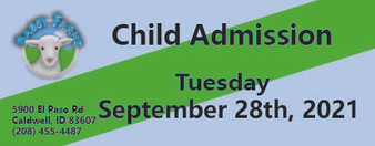 Babby Farms regular child admission 9/28/2021