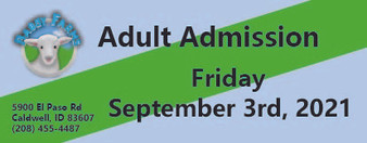 Babby Farms regular adult admission 9/3/2021