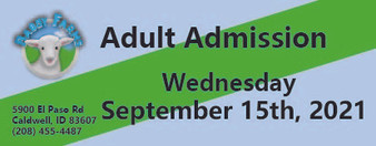 Babby Farms regular adult admission 9/15/2021