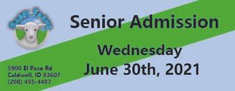 Babby Farms regular senior admission 6/30/2021