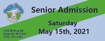 Babby Farms regular senior admission 5/15/2021