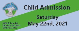Babby Farms regular child admission 5/22/2021