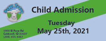 Babby Farms regular child admission 5/25/2021