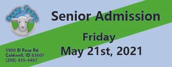 Babby Farms regular senior admission 5/21/2021