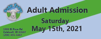 Babby Farms regular adult admission 5/15/2021