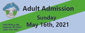 Babby Farms regular adult admission 5/16/2021