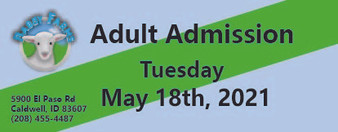 Babby Farms regular adult admission 5/18/2021
