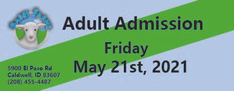 Babby Farms regular adult admission 5/21/2021