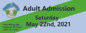 Babby Farms regular adult admission 5/22/2021