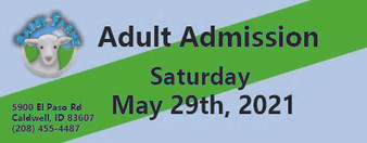 Babby Farms regular adult admission 5/29/2021