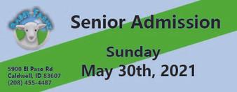Babby Farms regular senior admission 5/30/2021