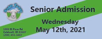 Babby Farms regular senior admission 5/12/2021