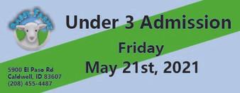 Babby Farms regular under 3 admission 5/21/2021