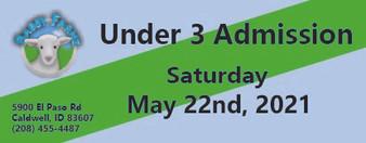 Babby Farms regular under 3 admission 5/22/2021