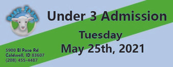 Babby Farms regular under 3 admission 5/25/2021