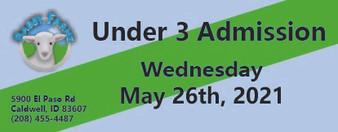 Babby Farms regular under 3 admission 5/26/2021