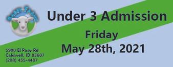 Babby Farms regular under 3 admission 5/28/2021