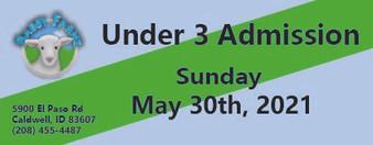 Babby Farms regular under 3 admission 5/30/2021