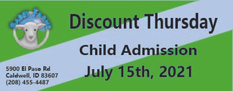 Babby Farms Discount Thursday child admission 7/15/2021