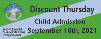 Babby Farms Discount Thursday child admission 9/16/2021