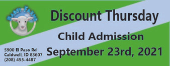 Babby Farms Discount Thursday child admission 9/23/2021