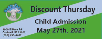 Babby Farms Discount Thursday child admission 5/27/2021