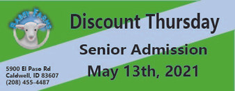Babby Farms Discount Thursday senior admission 5/13/2021