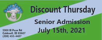 Babby Farms Discount Thursday senior admission 7/15/2021