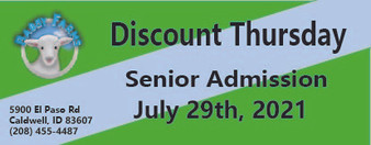 Babby Farms Discount Thursday senior admission 7/29/2021