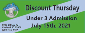 Babby Farms Discount Thursday under 3 admission 7/15/2021