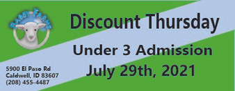 Babby Farms Discount Thursday under 3 admission 7/29/2021