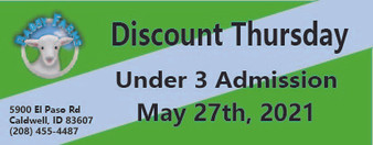 Babby Farms Discount Thursday under 3 admission 5/27/2021