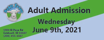 Babby Farms regular adult admission 6/9/2021