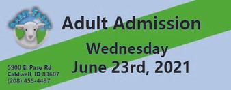 Babby Farms regular adult admission 6/23/2021